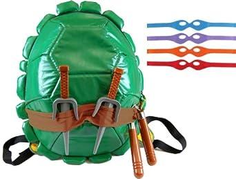 Amazon.com: Teenage Mutant Ninja Turtles TMNT Shell Backpack wity Toys