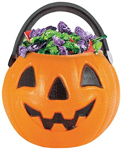 Paper House Jigsaw Shaped Puzzle 500 Pieces 16.5 by 20.5-Inch -Trick or Treat Bucket