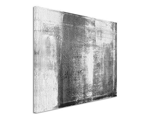 50x70cm Leinwandbild schwarz weiß in Topqualität Abstrakt Gemälde I