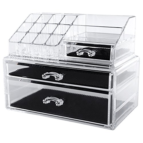 SONGMICS Cosmetic/makeup Organizer Jewelry Display Box Bathroom Storage Case Drawers UJMU02T (Tabletop Cosmetic Organizer compare prices)