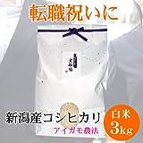 [転職祝い]新潟県産コシヒカリ 3キロ(アイガモ農法)