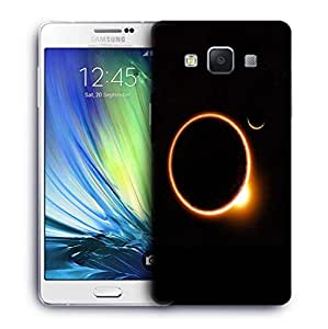 Snoogg Black Solar Printed Protective Phone Back Case Cover For Samsung Galaxy A7