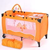 Baby travel cot orange