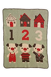 Green 3 Apparel Recycled USA-made 3 Little Pigs Throw