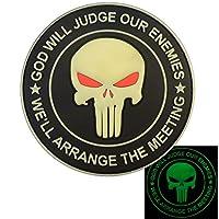 GOD WILL JUDGE OUR ENEMIES Glow Dark Punisher Crâne Seal Team 6 PVC Gomme 3D Velcro Écusson Patch