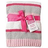 Hudson Baby Striped Chenille Blanket, Pink