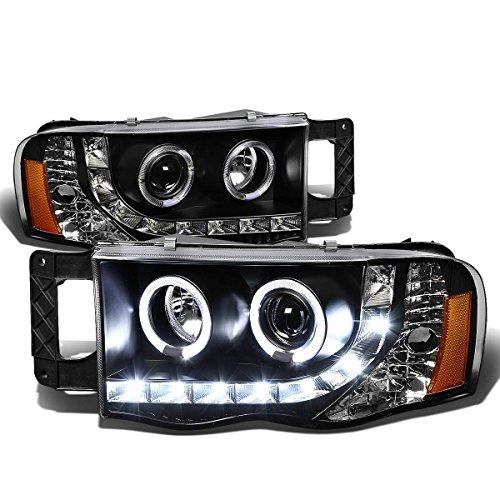 DNA Motoring HL-HPL-LED-DR02-BK-AM Headlight Assembly, Driver and Passenger Side (2003 Dodge Headlights compare prices)