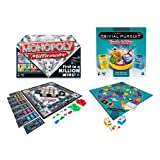 Trivial Pursuit Family Edition + Monopoly Millionaire Board Games (8+ Years)