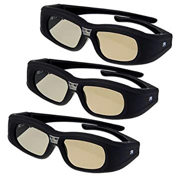 2x excelvan lunettes lunettes 3d active dlp link. Black Bedroom Furniture Sets. Home Design Ideas