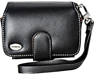 Olympus Slim Leather Case for Compact Digital Cameras (Black)