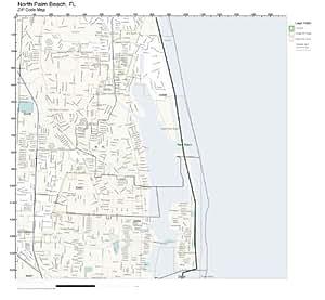 Amazon Com Zip Code Wall Map Of North Palm Beach Fl Zip