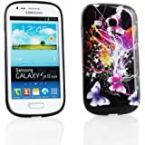 Kit Me Out FR Coque en gel TPU pour Samsung Galaxy S3 Mini i8190 - noir papillons multicolores