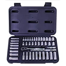 "Advanced Tool Design Model  ATD-1200  44 Piece 1/4"" Drive Chrome Socket Set, SAE and Metric In Blow Molded Case"