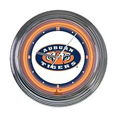 Buy Memory Company Auburn Tigers 15 Neon Clock by The Memory Company