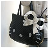 Hello Kitty Head Shaped Tote Shoulder Bag Black