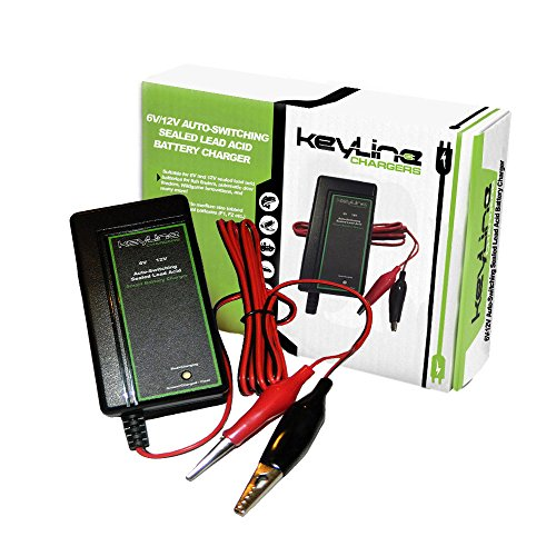 6V/12V Auto-Switching Smart Battery Charger w Float Voltage - 3 Stage Trickle Charger for SLA Batteries, Wildgame Feeders & More! by KeyLine Chargers (Wall Auto Battery Charger compare prices)