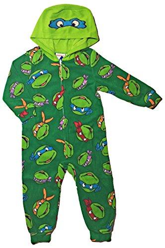 Teenage Mutant Ninja Turtles Little Boys Toddler Hooded Sleeper Pajama (4T) (Ninja Turtles Pajamas Set compare prices)