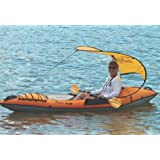 WindPaddle Sails Sun Shade for Kayaks and Canoes, Standard, Coast Gold/Royal Blue