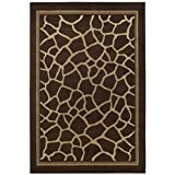 Shaw Living Concepts 5-Foot 3-Inch by 7-Foot 10-Inch Rug in Giraffe, Brown