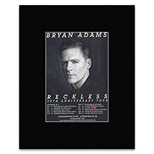 BRYAN ADAMS - Reckless 30th Anniversary Tour Matted Mini Poster - 13.5x10cm: Amazon.co.uk ...