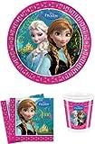 Toy - Disney Frozen Die Eisk�nigin Partygeschirr - Partyset Becher Teller Servietten