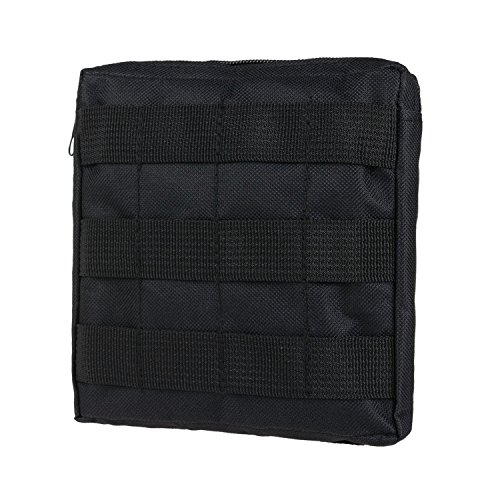MOLLE Pouches - Compact Water-resistant Multi-purpose Tactical EDC Utility Gadget Gear Hanging waist Bags(Square Pouch ,Black )