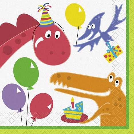 Dinosaur Birthday Lunch Napkins