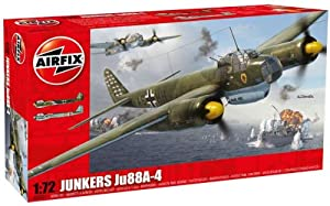 Airfix A03007 Junkers Ju-88 1:72 Scale Military Aircraft Series 3 Model Kit by Hornby
