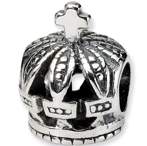 Reflections Beads Silver Regal Crown Travel Bead