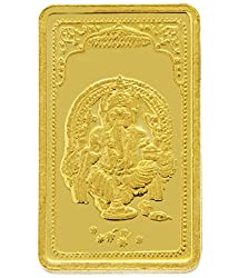 TBZ-The Original 10 gm, 24k(999) Yellow Gold Ganesh Precious Coin