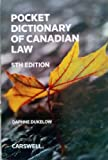 img - for Pocket Dictionary of Canadian Law 5th Edition book / textbook / text book
