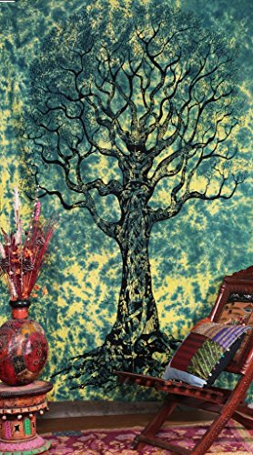 Handicrunch-Twin-Tree-Of-Life-Tie-Dye-staggering-Indian-Tapestry-Throw-Bedspread
