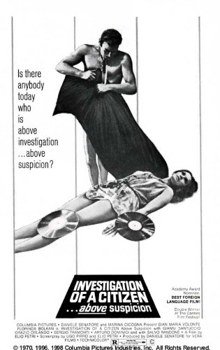 Investigation of a Citizen Above Suspicion Movie Poster (27 x 40 Inches - 69cm x