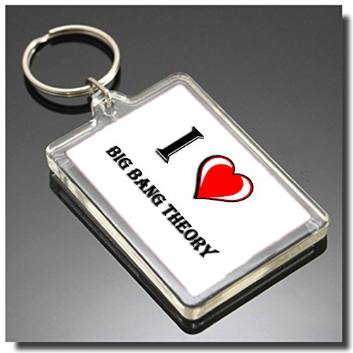 I HEART BIG BANG THEORY KEYRING - I LOVE BIG BANG THEORY PORTACHIAVI