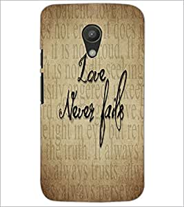 PrintDhaba Quote D-5540 Back Case Cover for MOTOROLA MOTO G2 (Multi-Coloured)