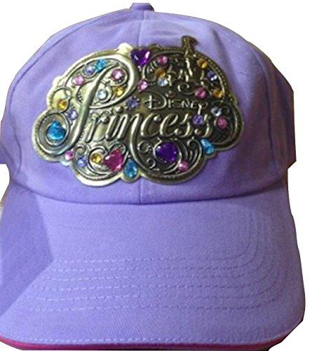disney-parks-princess-embellished-lavender-child-size-baseball-hat-cap-new