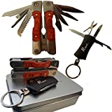 Multitool - Emergency Survival Pocket Tool - Camping Tool with Multi - Tool Keychain - Stainless Steel - Money Back Guarantee