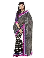 Prafful Gorgette Printed Saree With Unstitched Blouse - B00KNUQ3OE