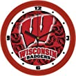 "Wisconsin Badgers Suntime 12"" Dimension Glass Crystal Wall Clock - NCAA College Athletics"