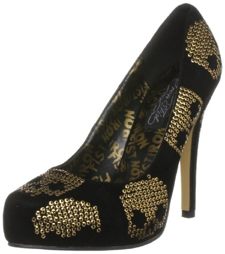 Iron Fist IFL1049-BGO-3 - Zapatos para mujer, color negro, talla 35.5