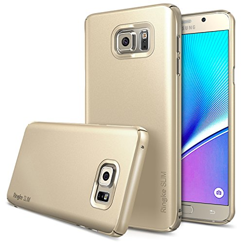 Galaxy Note 5 Case, Ringke [Slim] Extreme Lightweight & Thin Cover w/ Screen Protector [Snug-Fit] Side to Side Edge Coverage Superior Coating PC Hard Skin for Samsung Galaxy Note 5 - Royal Gold (Galaxy Note Edge Cases For Women compare prices)