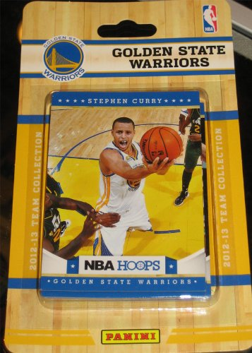 Golden State Warriors Brand New 2012 2013 Hoops Basketball Factory Sealed 10 Card Team Set with Stephen Curry Andrew Bogut David Lee Dorell Wright Nate Robinson Brandon Rush Richard Jefferson Mark Jackson Charles Jenkins and Klay Thompson