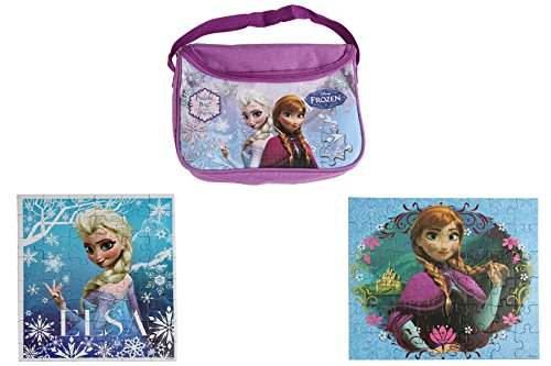 2 Pack Frozen Puzzles with Carry Bag - 1