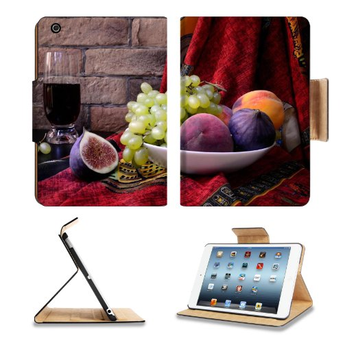 Figs Grapes Fruit Juice Plate Apple Ipad Mini Flip Case Stand Smart Magnetic Cover Open Ports Customized Made To Order Support Ready Premium Deluxe Pu Leather 8 Inch (205Mm) X 5 1/2 Inch (140Mm) X 11/16 Inch (17Mm) Liil Ipad Mini Professional Ipadmini Cas front-748794