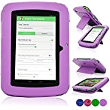 """LeapFrog Epic Case, ACdream High Quality PU Leather Cover Case for LeapFrog Epic 7"""" Android-based Kids Tablet 16GB (NOT FIT other device), Purple"""