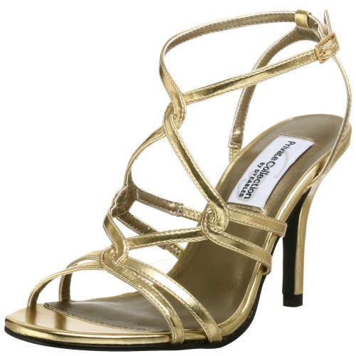 Dyeables Women's Runway Sandal,Gold,5 M