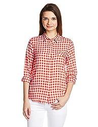 Lee Women's Tunic Shirt (LESH9189_Orange_X-Large)