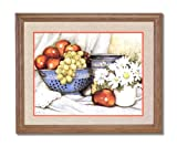 Apples Grapes Flowers Kitchen Contemporary Home Decor Wall Picture Oak Framed Art Print