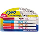 Expo Low-Odor Dry Erase Markers, Ultra-Fine Tip, 4-Pack, Fashion Colors
