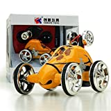 Kanzd Mini 360° Rotation RC Radio Remote Control Racing Stunt Flip Car Toy Kids (Orange)